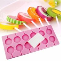 12 Cavity Lips Lollipop Cake Mold Silicone Mould Candy Chocolate+Sticks Bake Aid