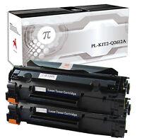 2 Toner per HP Q 2612A 12A 1015 1010 1012 1018 1020 3050 Canon LB3000 M1319MFP