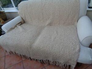 Used - Laura Ashley Home Chunky Weave Beige Throw 150cm x 200cm
