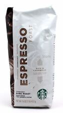 NEW Starbucks Caffe ESPRESSO ROAST Whole Bean Coffee 1lb (16oz) 453g Bag - Dark