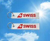 Swiss Air Keychain Keyring Baggage Luggage Tag