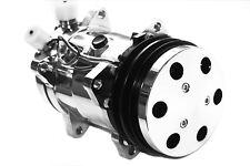 Universal Sanden 508 12v Chrome A/C Compressor V-Belt w/ Chrome Clutch Cover