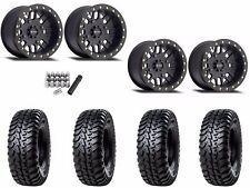 "Method 406 Beadlock 15"" Wheels Rims Black 32"" Tensor Regulator Tires Maverick X3"