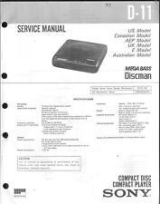 Sony original manual de servicio para d-11