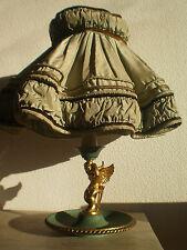 LAMPE BRONZE DORE ET PATINE VERT DESIGN 1950 AMOUR Gt ROYERE POILLERAT LUMINAIRE