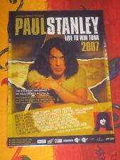 PAUL STANLEY -  KISS -  2007 LIVE TO WIN AUSTRALIAN  TOUR  -  PROMO TOUR POSTER