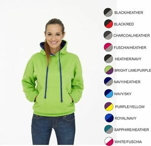 Contrast Workwear Hooded Top. FREE PERSONALISED EMBROIDERED LOGO OF YOUR CHOICE!