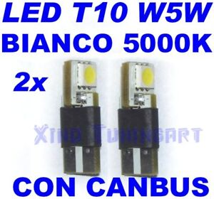 Pair LED SMD White 5000K T10 W5W Canbus Light Bulbs Lights Position Car 12V