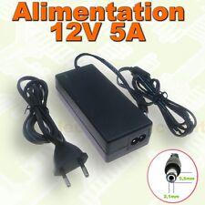 611# Alimentation à découpage 220 / 12V 5A  60w connecteur 5,5x2,1mm
