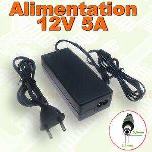 611# Alimentation pour ruban LED 12v 5A  -  60W 5000mA