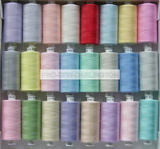 24 x MOON LIGHT PASTEL COLOUR POLYESTER SEWING THREADS COTTON 120s