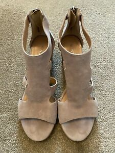 Mint Velvet Shoes Ladies Womens Heel Sandals Size UK 6 39 Lena Lilac Grey Beige