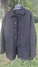 SCAPA of Scotland 100% Wool Lined Luxury Dark Charcoal Coat Sz 52 EUR 1X / 2X US