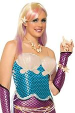 Ladies Sexy Mermaid Fairy Tale Fancy Dress Costume Outfit Corset Top UK 10-12-14