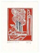 VINCAS KISARAUSKAS: Exlibris für Francesca Cauti; 1977