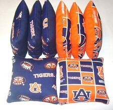 8 CORNHOLE BEAN BAGS BAGGO AUBURN TIGERS TOP QUALITY TAILGATE TOSS GAME