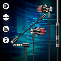 In-Ear Gaming Wired Headset Earbuds Stereo Bass Earphone w/Mic For Phone PC iPad