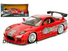 JADA 98338 FAST AND FURIOUS DOM'S MAZDA RX-7 1:24 DIECAST MODEL CAR RED NEW