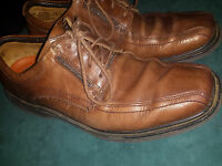 CLARKS UNSTRUCTURED BROWN LEATHER LACE UP MENS SHOES SIZE 8M