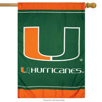 "University of Miami Hurricanes House Flag NCAA Licensed 28"" x 40"""