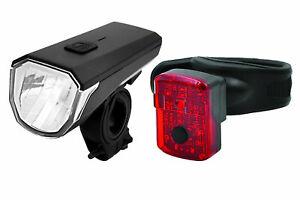 Matrix Fahrrad-Licht / Fahrrad-Beleuchtung-Set BLS 25 *Scheinwerfer + Rücklicht