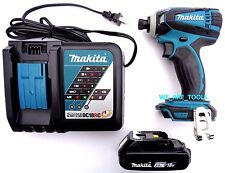"New Makita 18V XDT04 1/4"" Impact Driver, (1) BL1820 Battery, 1) Charger 18 Volt"