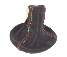 SHIFT BOOT FIAT PANDA 169 GENUINE LEATHER SUEDE E RED STITCHING