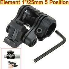 Sport Tactical 5 Position Flashlight Laser Mount For 20mm Picatinny Scope Mounts