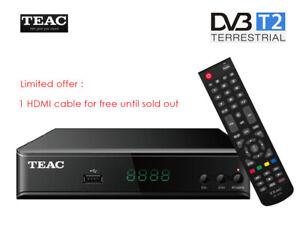 TEAC HDB860 FHD DVB-T2 HDMI H.264 USB PVR Record Media Play Set Top Box Remote