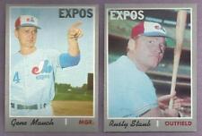 1970 Topps Montreal Expos Team Set