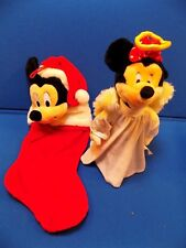 Disney Plush Christmas Stockings Tree Topper Lot Mickey Minnie Mouse Holiday