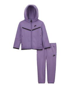 Nike Sportswear Tech Fleece Baby Zip Hoodie and Pants Set Violet 24 M 66H052-P6H