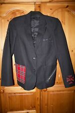 Unisex Black and Red Punk Goth Blazer XS-S