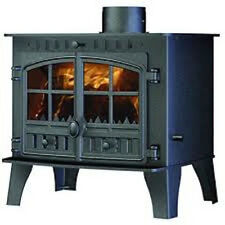 Hunter Herald 14 Central Heating Stove Multi Fuel Wood Burning Fire New Black