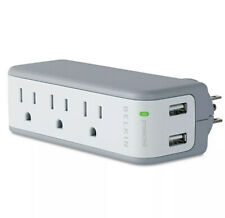 Belkin Mini Surge Protector With Dual USB Charger Free Shipping New Open Box USA
