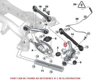 Genuine Rear Driver Left Suspension Knuckle Wheel Carrier for BMW E88 E90 E92