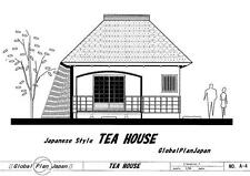 Old Style! Japanese Traditional House Plan TEA-HOUSE Temple Shrine, Detail