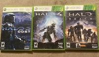 USED - Halo 3, 4, Reach Bundle Lot of 3 - (Xbox 360) - Free Shipping