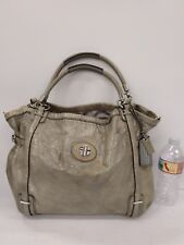 * Rare Elegant Coach Audrey Flagship Silver Grey Patent Leather Tote 17063 Purse