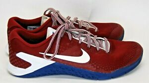 Nike Mens Metcon 4 Burgundy Blue White Size 9.5 Athletic Shoes