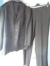 Italia Milano  black pinstripe 2-piece suit size 56 check measurements