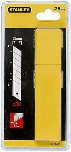 Stanley 011325 25mm Snap Off Blades pack of 10