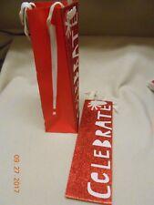 New lot 2 Hallmark wine liquor gift bags Red Glitter Celebrate w/ name tags