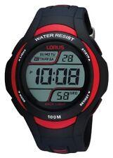 Lorus-R2307EX9-Mens Watch Digital Quartz StopwatchAlarmLight Black Rubber Str