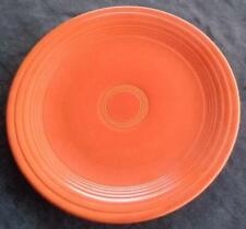"Vintage Fiesta Red/Orange 9.5"" Luncheon Plate - EXCELLENT COND  HLC  COLLECTIBLE"