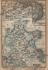 RÜGEN. Stralsund Bergen Sassnitz Sellin. Rugen Deutschland Germany 1900 map