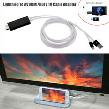 5V 1A Lightning To AV HDMI/HDTV TV Cable Adapter Fit for iPhone 6/7/8/X/XS/XR/XS