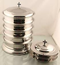Set of Holy 5 Communion Tray with Lid  & 3 stacking Bread Plate with Lid