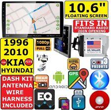 """FITS/FOR KIA HYUNDAI 10.6"""" NAVIGATION BLUETOOTH CD/DVD USB CAR RADIO STEREO PKG"""