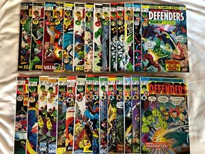 Defenders Bronze Age issues 2-30 28 Comics Super High grade stunners with Keys!